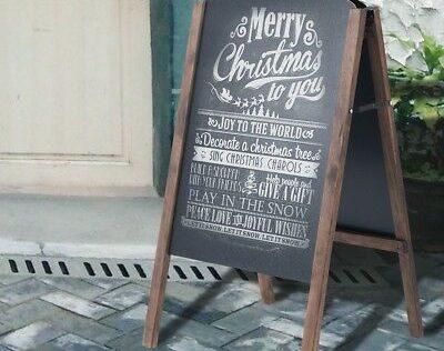 Folding-Cafe-Club-Wood-A-Frame-Sidewalk-Signage-Chalkboard